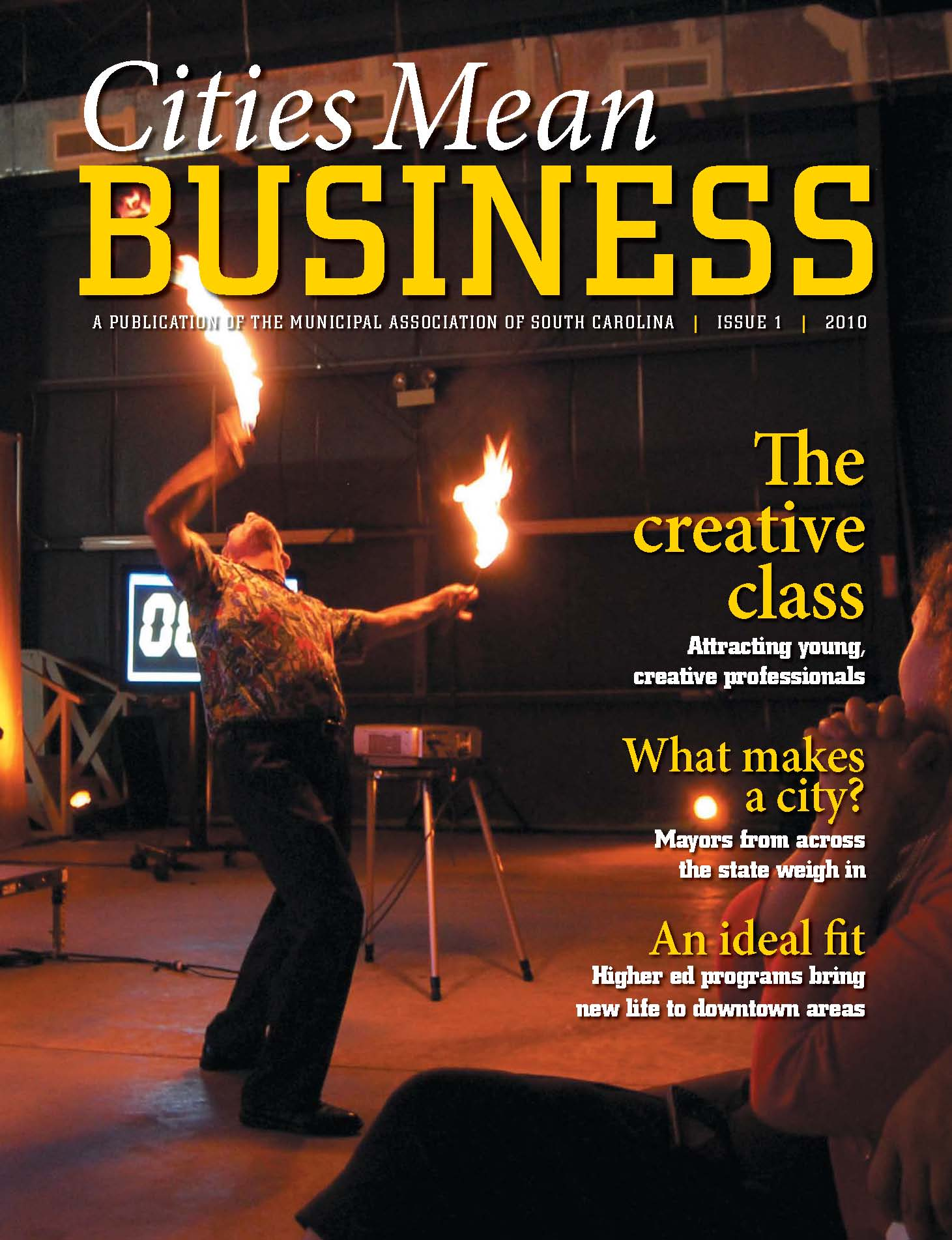 Cities Mean Business magazine: Winter 2010 cover