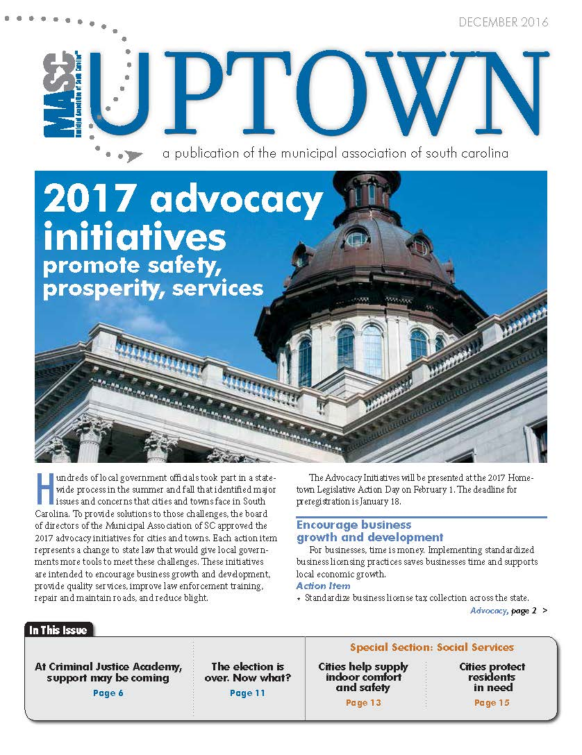 December 2016 Uptown cover