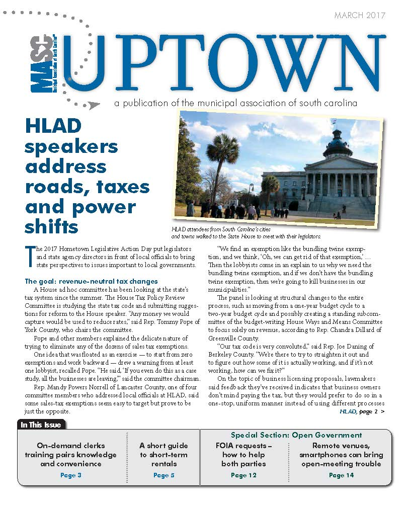 Uptown March 2017 Cover