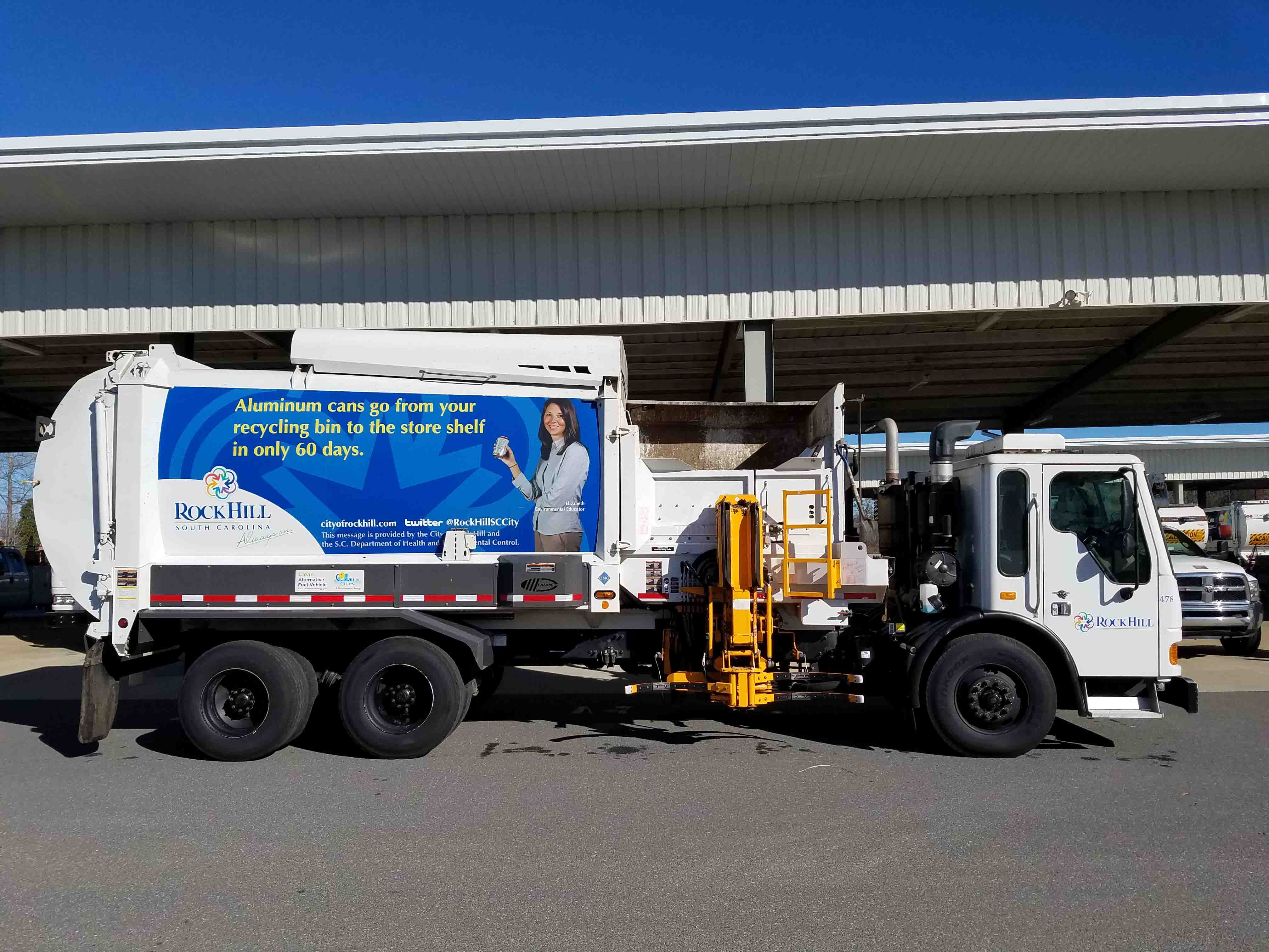Rock Hill CNG alternative fuel garbage truck