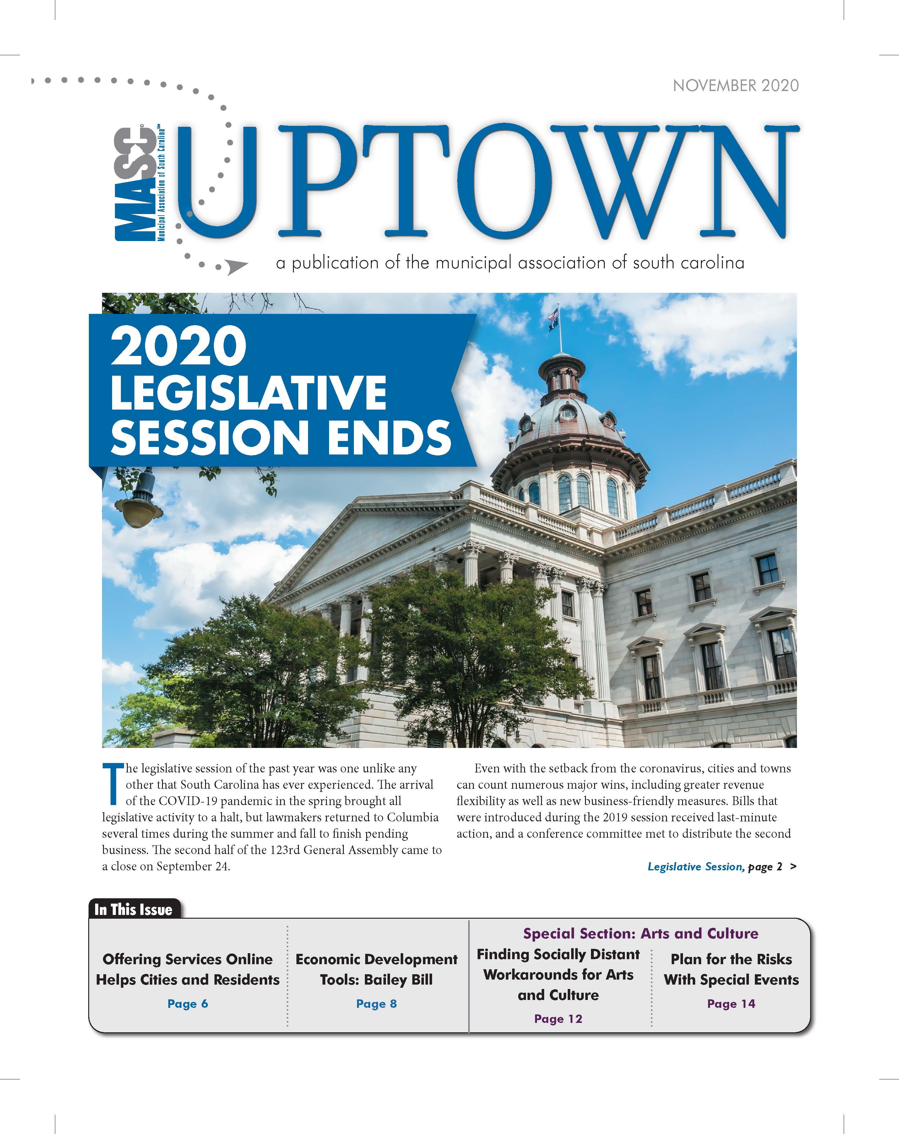 Uptown November 2020 Cover